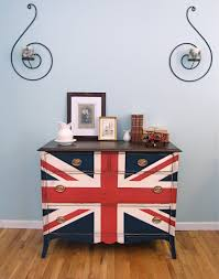 British Flag With Red Red White U0026 Blue Dresser Shades Of Blue Interiors