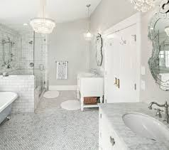 los angeles carrara marble subway laundry room traditional with