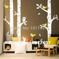 Wall Mural White Birch Trees Tree Wall Decal Promotion Shop For Promotional Tree Wall Decal On