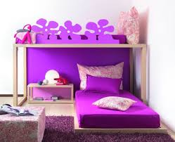 awesome pink white wood simple design kids style bedroom pink
