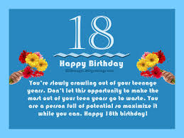 Samples Of Birthday Wishes 18th Birthday Wishes Messages And Greetings 365greetings Com