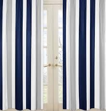 Curtain Panels Sweet Jojo Designs Stripe Striped Semi Sheer Rod Pocket Curtain