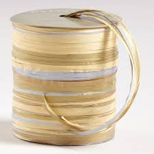 raffia ribbon silver and gold raffia multi tie ribbon world market