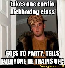 Cardio Meme - takes one cardio kickboxing class goes to party tells everyone he