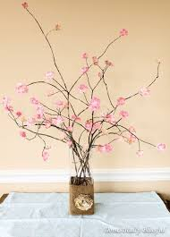 cherry blossom home decor diy stemmed cherry blossoms how to make a bouquet home diy