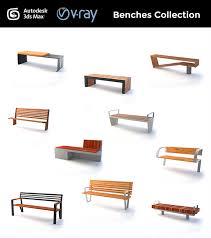 Street Furniture Benches Street Furniture Benches By Fabiomonzani 3docean
