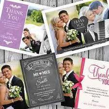 wedding thank you cards 100 personalised wedding thank you cards with your photos