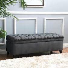 rothwell tufted bonded leather storage bench ottoman tag tufted