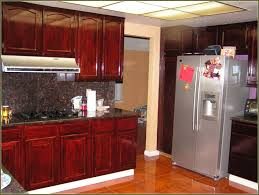 Primitive Kitchen Decorating Ideas Red Mahogany Kitchen Cabinets Home Decoration Ideas