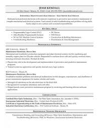 Resume For Maintenance Engineer Power Plant Electrician Cover Letter