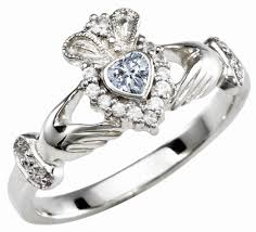 claddagh ring meaning diamond silver claddagh ring april birthstone