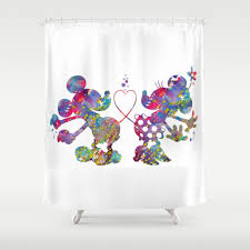 Mickey And Minnie Curtains by Mickeymouse Shower Curtains Society6
