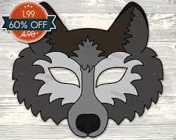 printable wolf ears halloween costume ears wolf costume