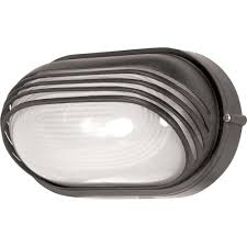 glomar 1 light outdoor architectural bronze oval bulk