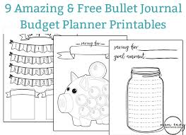 printable bullet journal planner free budget planner printables 9 free bullet journal style printables