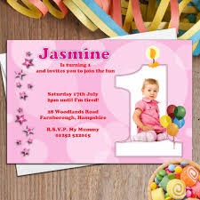 child birthday party invitations cards wishes greeting card 10 personalised 1st birthday party photo invitations n20