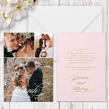 wedding photo and non photo thank you cards gold and silver foil