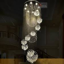 Chandelier Light Fixtures D80cm H220cm K9 Crystal Light Ceiling Stairs Lamp Chandelier