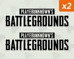 pubg logo pubg decal etsy