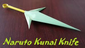 amazing knives origami how to make a throwing kunai knife using paper naruto