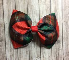 christmas hair bows christmas hair bow plaid hair bow hair bow