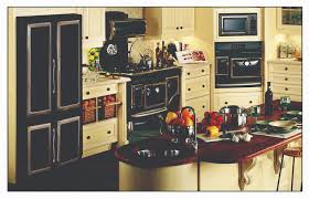 Retro Kitchen Cabinets by Great Retro Kitchen Appliances Featuring Cream Color Wooden