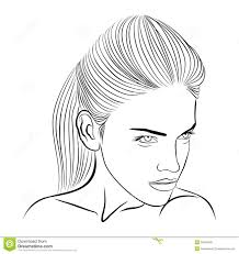female face sketch royalty free stock photos image 26592648