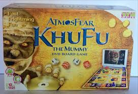 atmosfear khufu the mummy dvd board game halloween scare fun