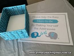 free baby shower printables primary teaching resources