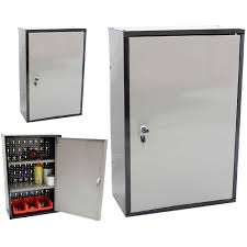 Steel Storage Cabinets Gray Metal Garage Storage Cabinet With Single Door For Wall