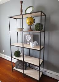 100 wood and metal bookshelf
