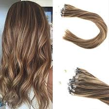 micro ring extensions loop micro ring beaded remy human hair extensions mixed