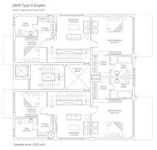 Duplex Floor Plan by Floor Plan Tata Housing Myst