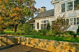 inexpensive retaining wall landscape traditional with planters