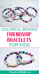 beads friendship bracelet images Colorful beaded friendship bracelets for kids projects with kids jpg