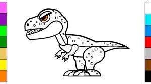 learning colors for kids with big dinosaur coloring page youtube
