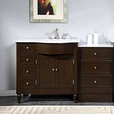 bathroom vanity top with left sink silkroad exclusive 58 inch