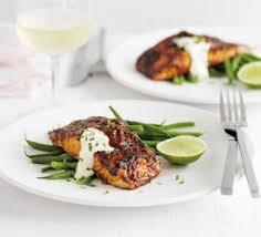 creme fraiche cuisine grilled salmon with chilli glaze lime crème fraîche recipe