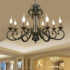 Metal Chandeliers Ac110v 220v Home Ceiling Chandeliers Metal Iron Light Chandelier