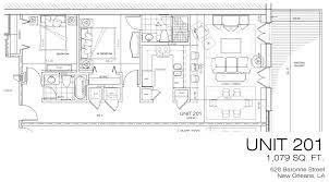 New Orleans Floor Plans by Le Fabricant 628 Baronne Street Warehouse District New Orleans