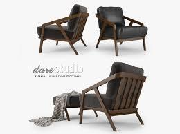 Lounge Chair Ottoman Studio Katakana Lounge Chair And Ottoman 3d Model Max Obj Fbx Mtl