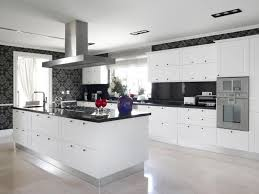 inspiring kitchens with white cabinets and dark granite pictures