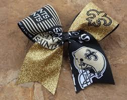 saints ribbon saints bow etsy