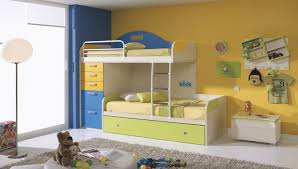 Kid Bookshelf Boys Bedroom Charming Picture Of Blue And Yellow Kid Bedroom