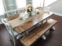 farmhouse table with bench and chairs farmhouse table bench shanty 2 chic