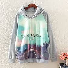 free shipping cute grey hooded cashmere sweater on luulla