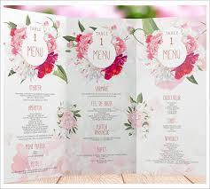 menu card templates free wedding menu card templates
