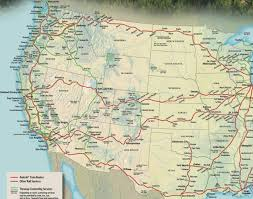 California Arizona Map by Amtrak California Zephyr Map California Map