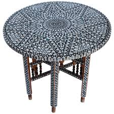 trebbiano round cocktail table beautiful mid century mother of pearl moroccan coffee table