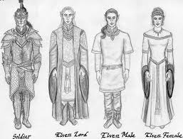 high elves clothing sketch by theophilia on deviantart